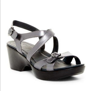 DANSKO Julie Platform Sandals in Pewter/Metallic